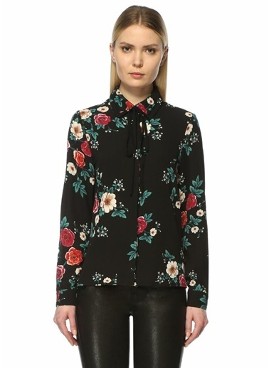 Glamorous Çiçekli Gömlek Bluz Renkli
